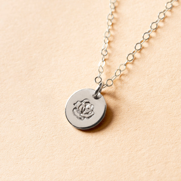 Rose Bud Petite Charm Necklace