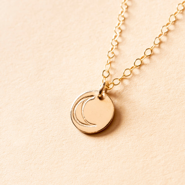 Moon Petite Charm Necklace