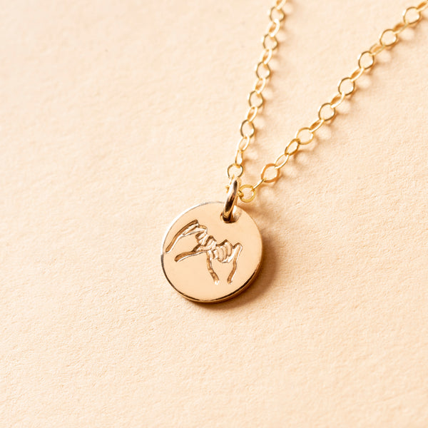 Pinky Swear Petite Charm Necklace