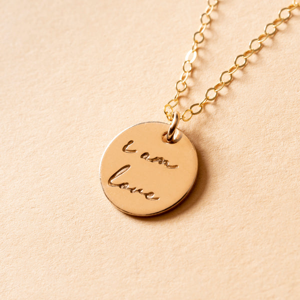 I Am Love Charm Necklace