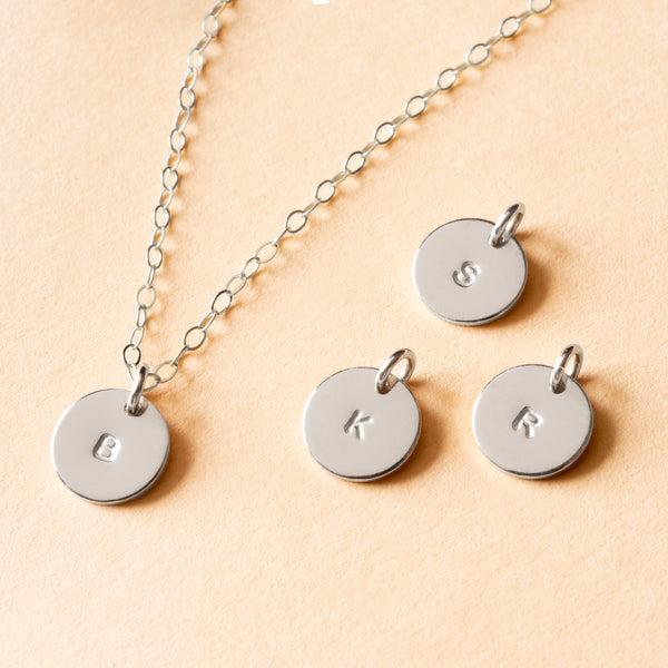 Personalized Petite Initial Necklace - Block