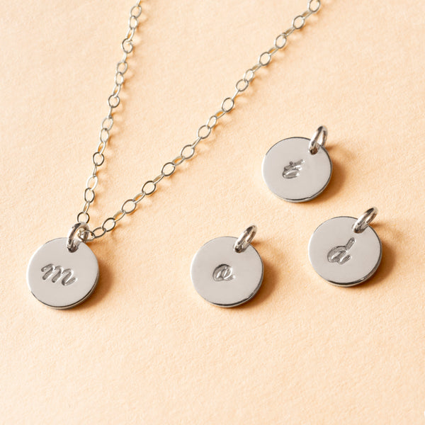 Personalized Petite Initial Necklace - Calligraphy
