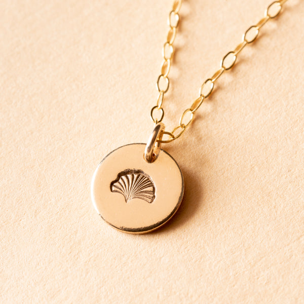 Gingko Petite Charm Necklace