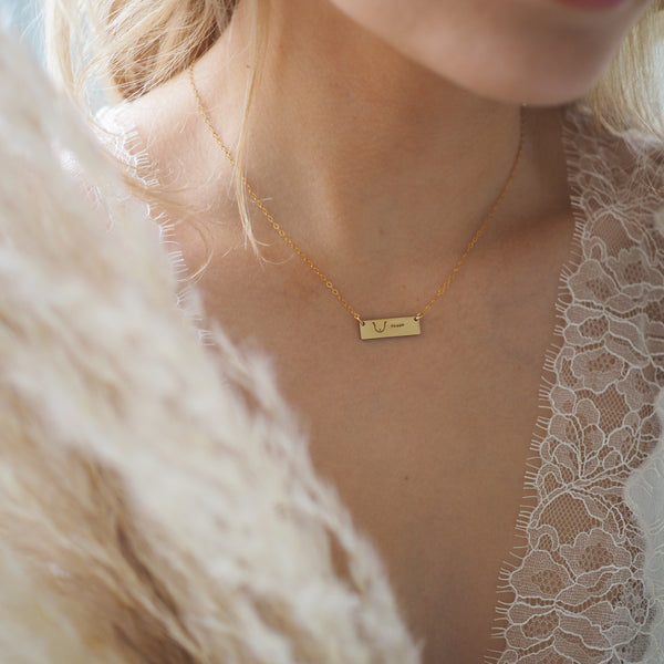 Mastectomy Petite Bar Necklace