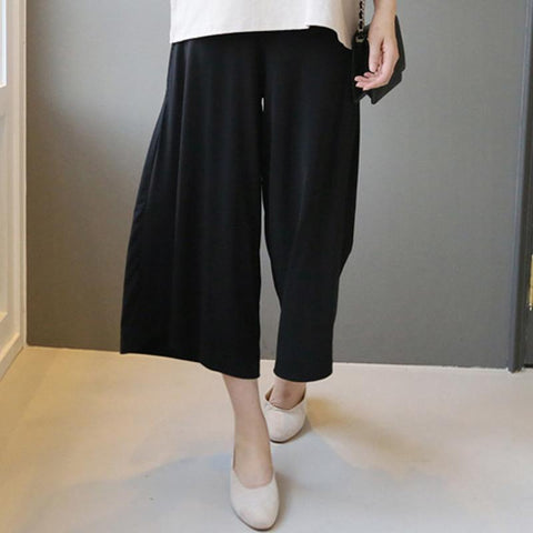 Maternity Solid Color Wide Leg Pants