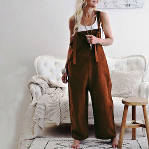Maternity Solid Color Casual Loose Jumpsuit