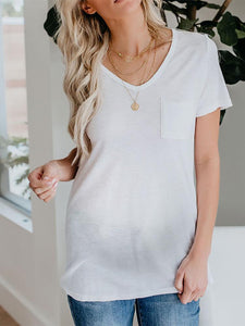 Maternity Printed Short-Sleeved T-Shirt Top