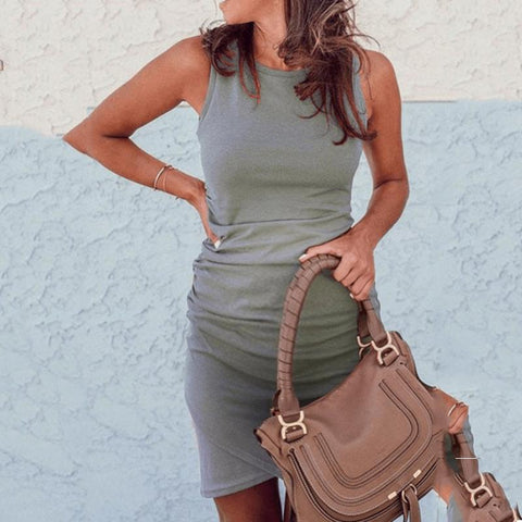 Maternity Sleeveless Irregular Dress