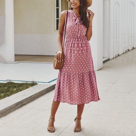 Maternity Polka Dot Long Dress
