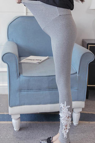 Maternity Lace Belly Pregnant Leggings
