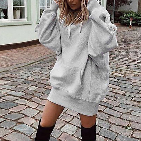 Maternity Solid Color Hooded Sweater