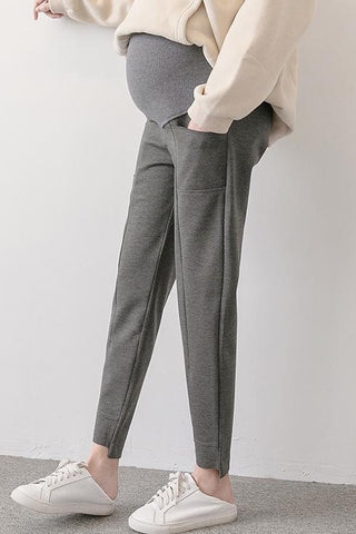 Maternity Irregular Bottom Tumor Pants