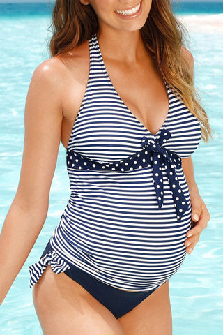 Maternity Stripe Two-Piece Swimsuit