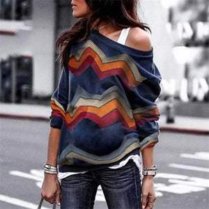 Maternity Fashion Stitching Long-Sleeved T-Shirt