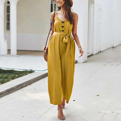 Maternity Solid Color Jumpsuit