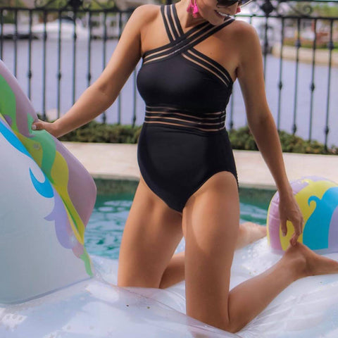 Maternity Perspective Beach One-piece Swimsuit
