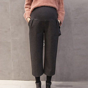 Maternity casual solid color loose wide legs pant