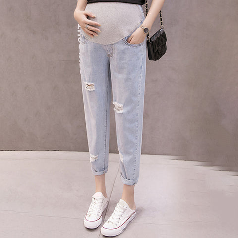 Maternity Casual ultra-thin maternity jeans