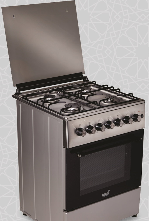 Totai 4 Burner Gas & Electric Oven (Stainless Steel)