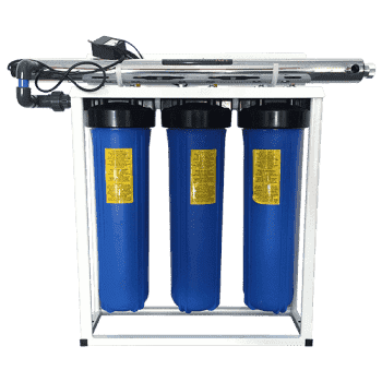 Whole House Filter Big Blue 3 Stage With 55W Uv Sterilizer (Filters Included With Wrench) - Whole House Filters - {{ shop_name }} - Puritech