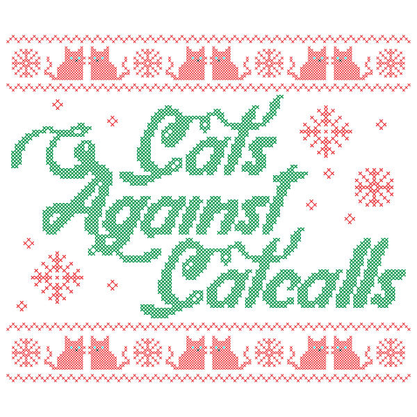 Cats Against Catcalls Cross-Stitch