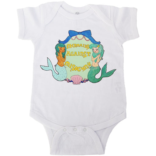 Mermaids Against Misogyny -- Baby Onesie
