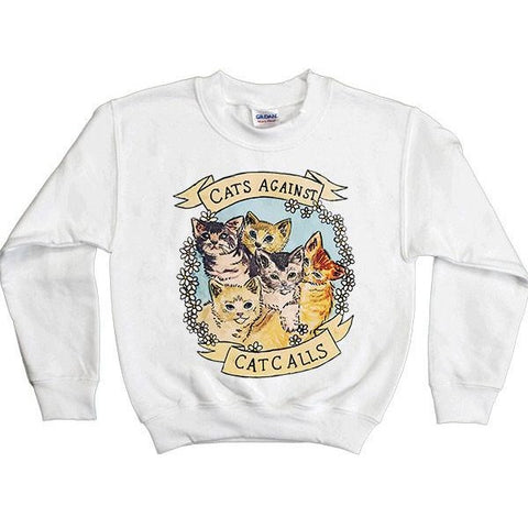 Cats Against Catcalls -- Youth Sweatshirt