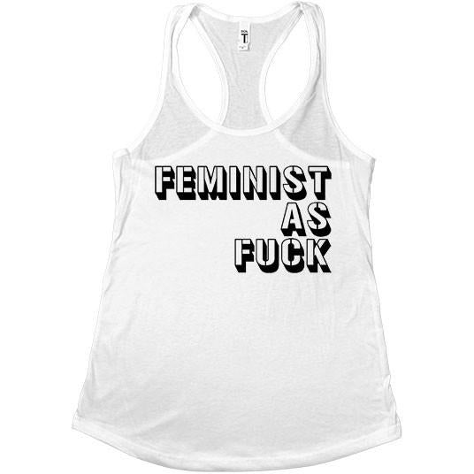Feminist As Fuck Stencil -- Women's Tanktop - Feminist Apparel - 2