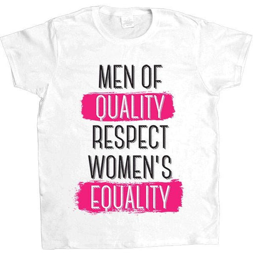 Men Of Quality Respect Women's Equality -- Women's T-Shirt - Feminist Apparel - 6