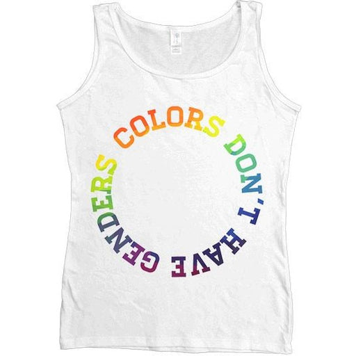 Colors Don't Have Genders -- Women's Tanktop - Feminist Apparel - 1