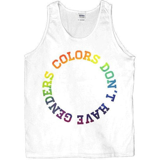 Colors Don't Have Genders -- Unisex Tanktop - Feminist Apparel - 1