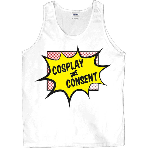 Cosplay Does Not Equal Consent -- Unisex Tanktop - Feminist Apparel - 3