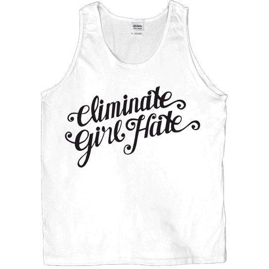 Eliminate Girl Hate -- Unisex Tanktop - Feminist Apparel - 3