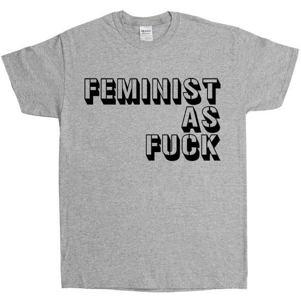 Feminist As Fuck Stencil -- Unisex T-Shirt - Feminist Apparel - 5
