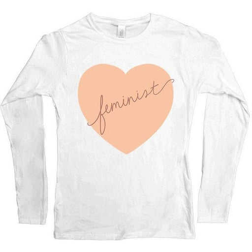 Feminist Heart -- Women's Long-Sleeve - Feminist Apparel