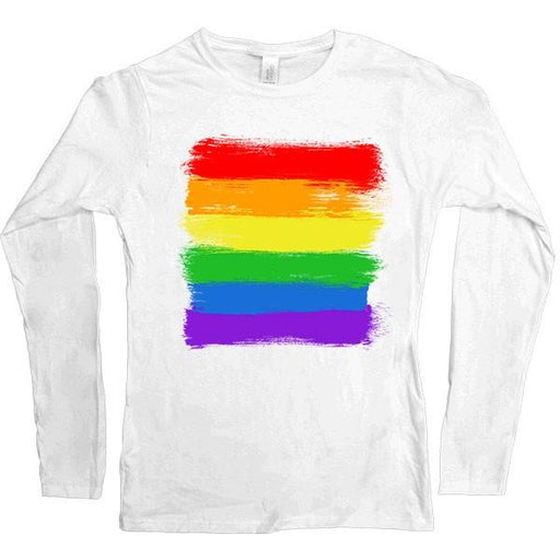 LGBTQIA+ Flag -- Women's Long-Sleeve - Feminist Apparel