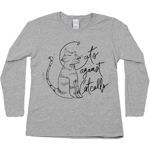 Cats Against Catcalls #2 -- Women's Long-Sleeve