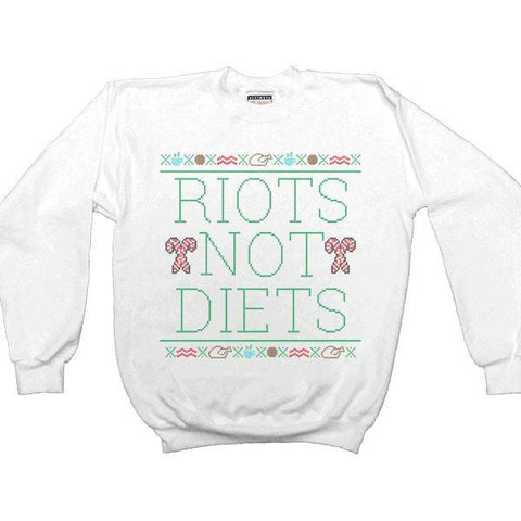 Riots Not Diets Cross-Stitch -- Sweatshirt