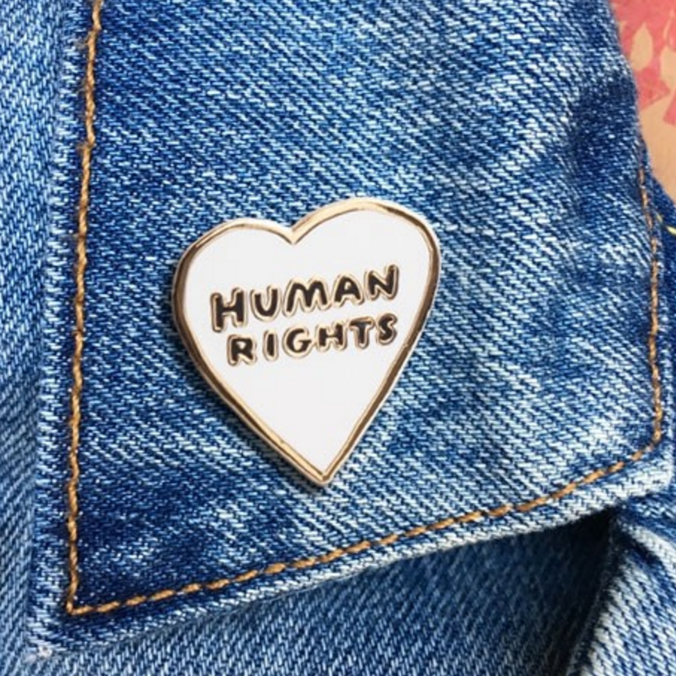 Human Rights Heart -- Enamel Pin