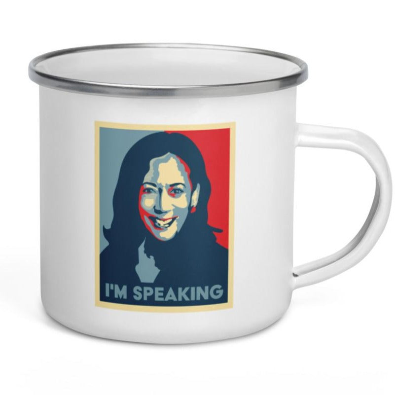 I'm Speaking, Kamala Harris -- Enamel Mug
