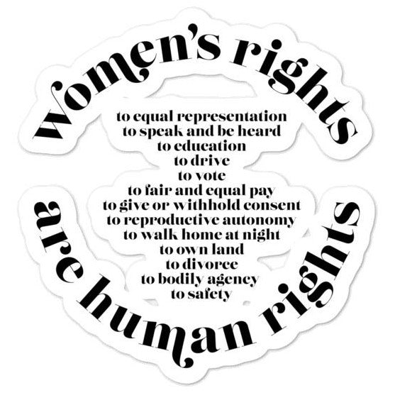 Women's Rights Are Human Rights (International Women's Day) -- Sticker