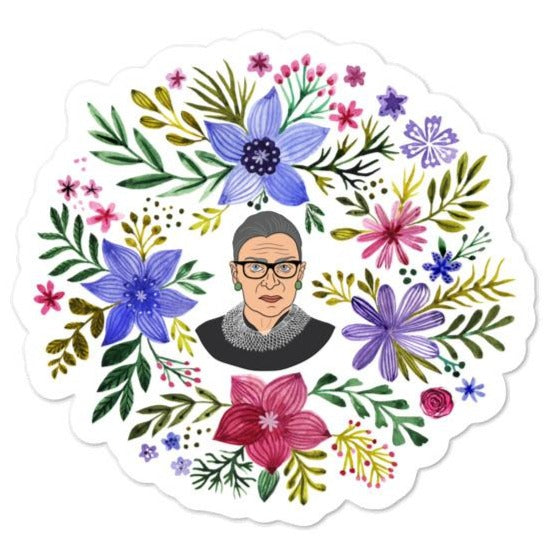 RBG Watercolor Flowers -- Sticker