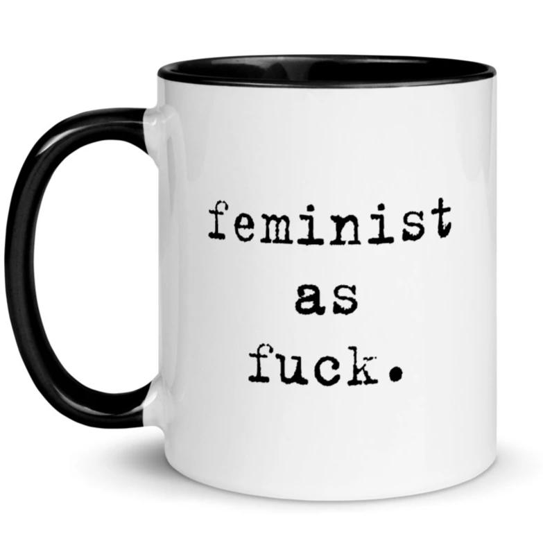 Feminist As Fuck Typewriter -- Mug