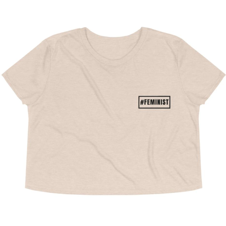 #Feminist -- Embroidered Crop Top