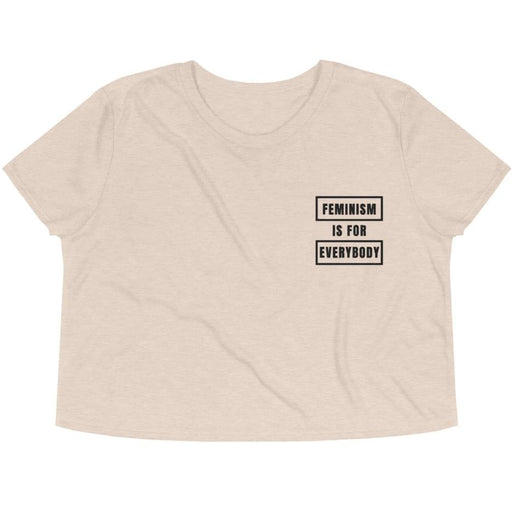Feminism Is For Everybody -- Embroidered Crop Top