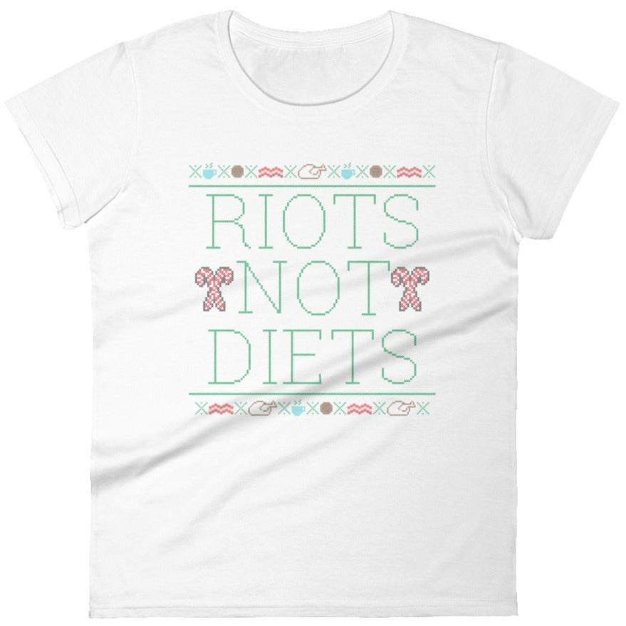 Riots Not Diets Cross-Stitch -- Women's T-Shirt