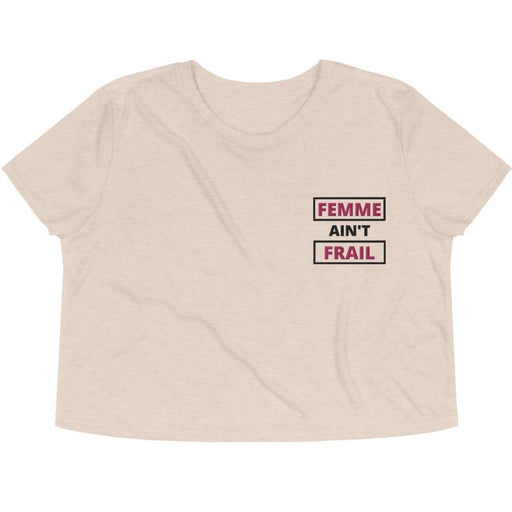 Femme Ain't Frail -- Embroidered Crop Top