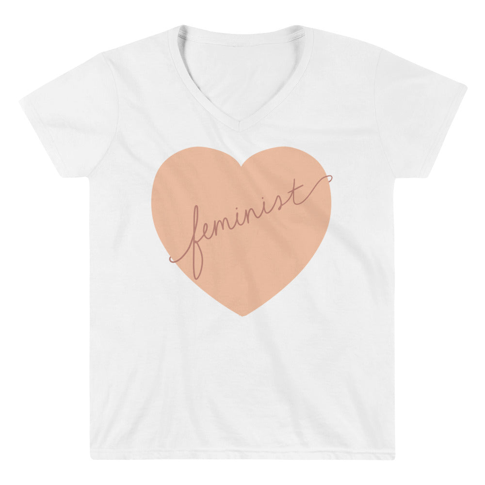Feminist Heart -- Women's T-Shirt