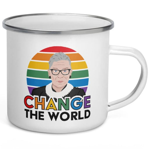 Change The World (Ruth Bader Gingburg) -- Enamel Mug