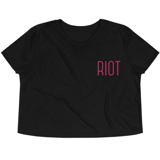 RIOT -- Embroidered Crop Top